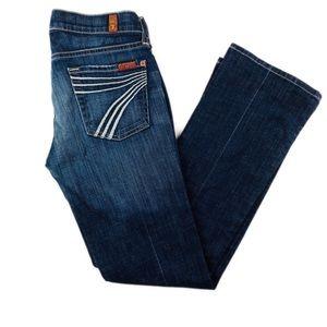 "7 for all Mankind ""Dojo"" Dark Wash Wide Leg Jeans"